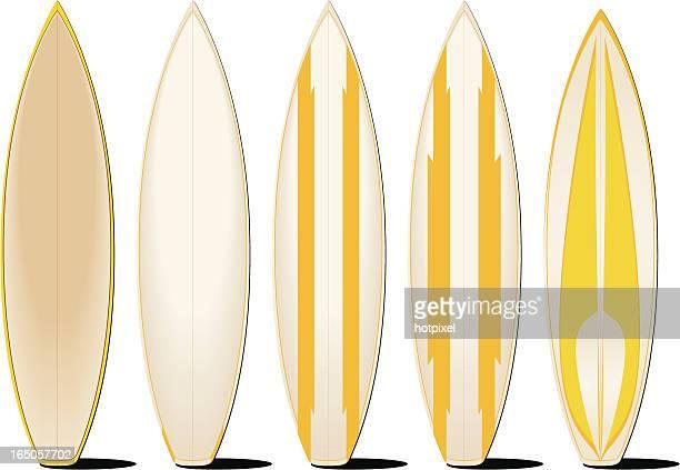 ilustraciones, imágenes clip art, dibujos animados e iconos de stock de surfboards - tabla de surf