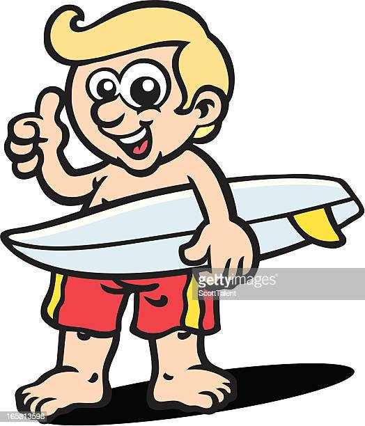 surfer dude - surf nude stock illustrations