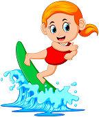 Surfer on blue Ocean
