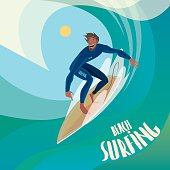 Surfer on the wave