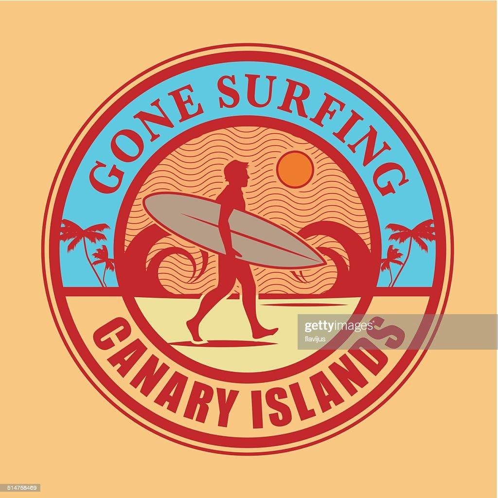 Surfer stamp or sign