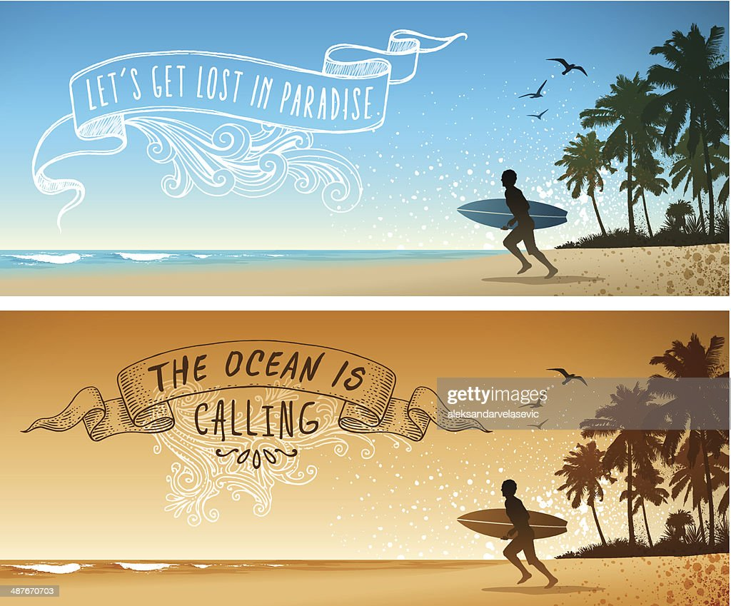 Surfing Hintergründe : Stock-Illustration