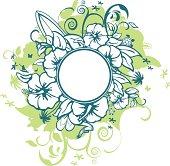 Surfing flowery motif