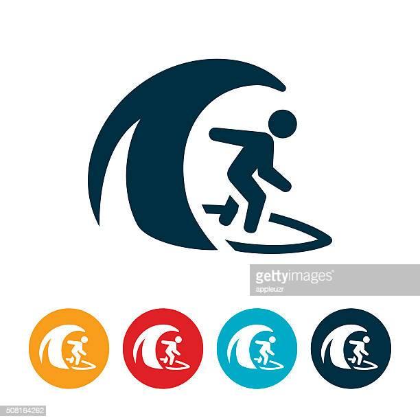 illustrations, cliparts, dessins animés et icônes de icône de surf - surf