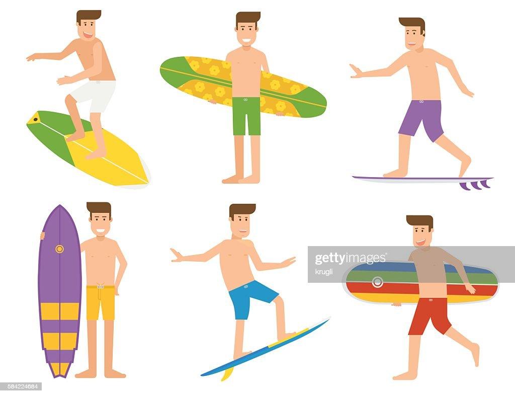 Surfing People Set