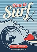 Surfing vector hawaii t-shirt vector vintage design