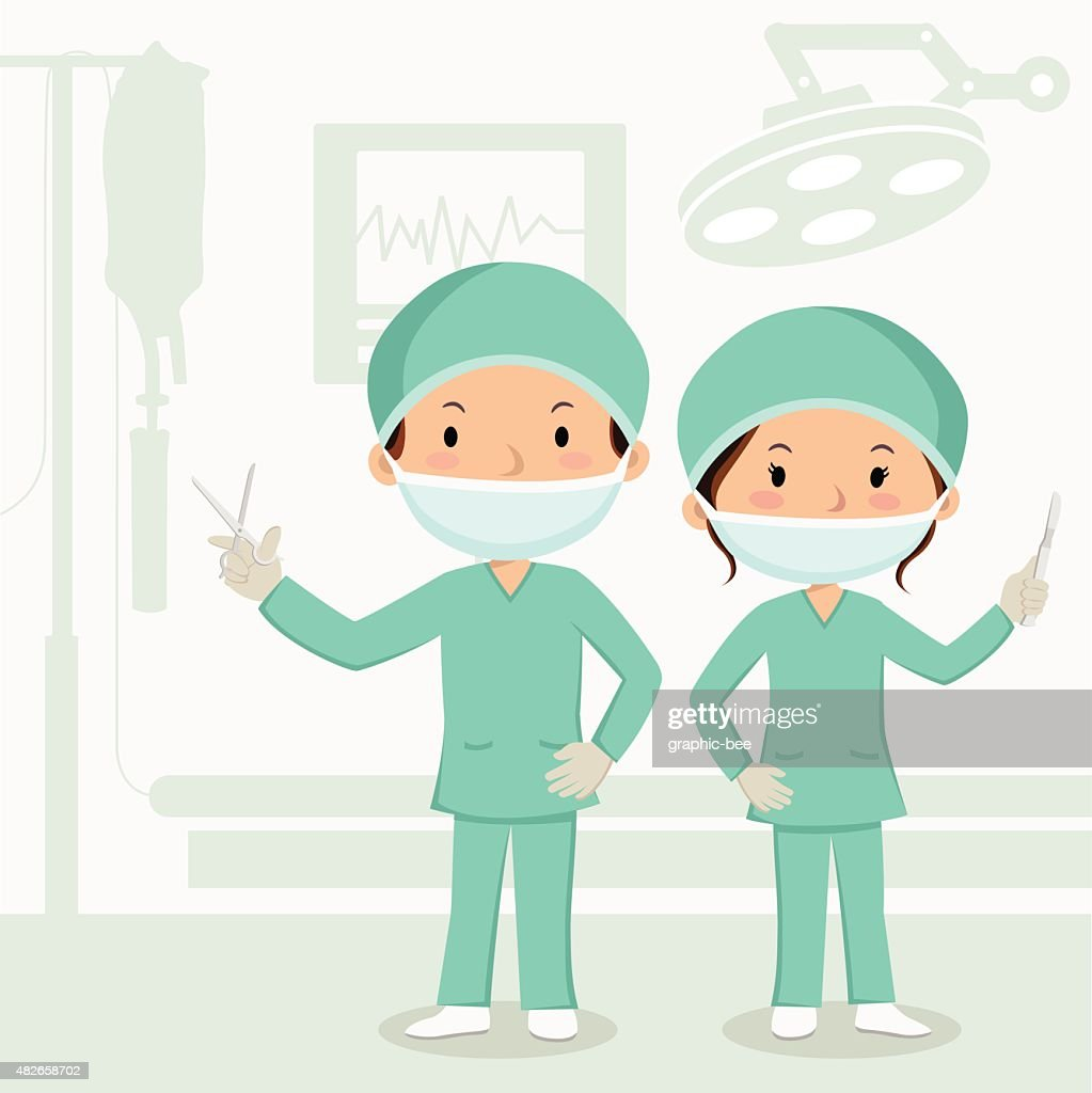 Surgeons in the operation theater