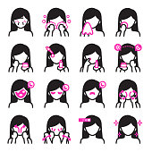 Surgery clinic icon.Black and pink colors theme.Vector icon design set.