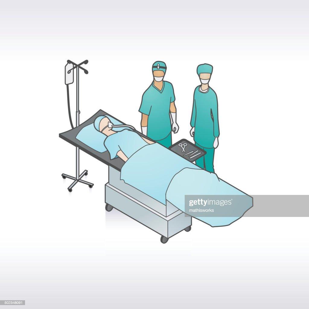 Surgery Patient Illustration