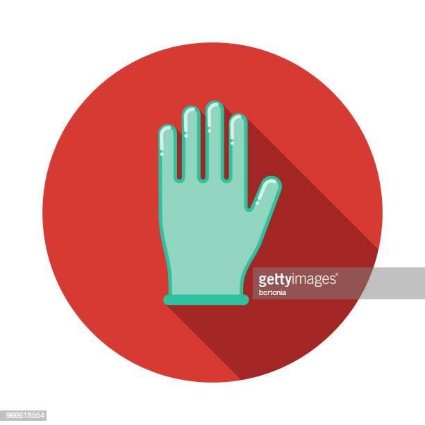 外科手袋フラット デザイン緊急サービス アイコン - 手術用グローブ点のイラスト素材/クリップアート素材/マンガ素材/アイコン素材