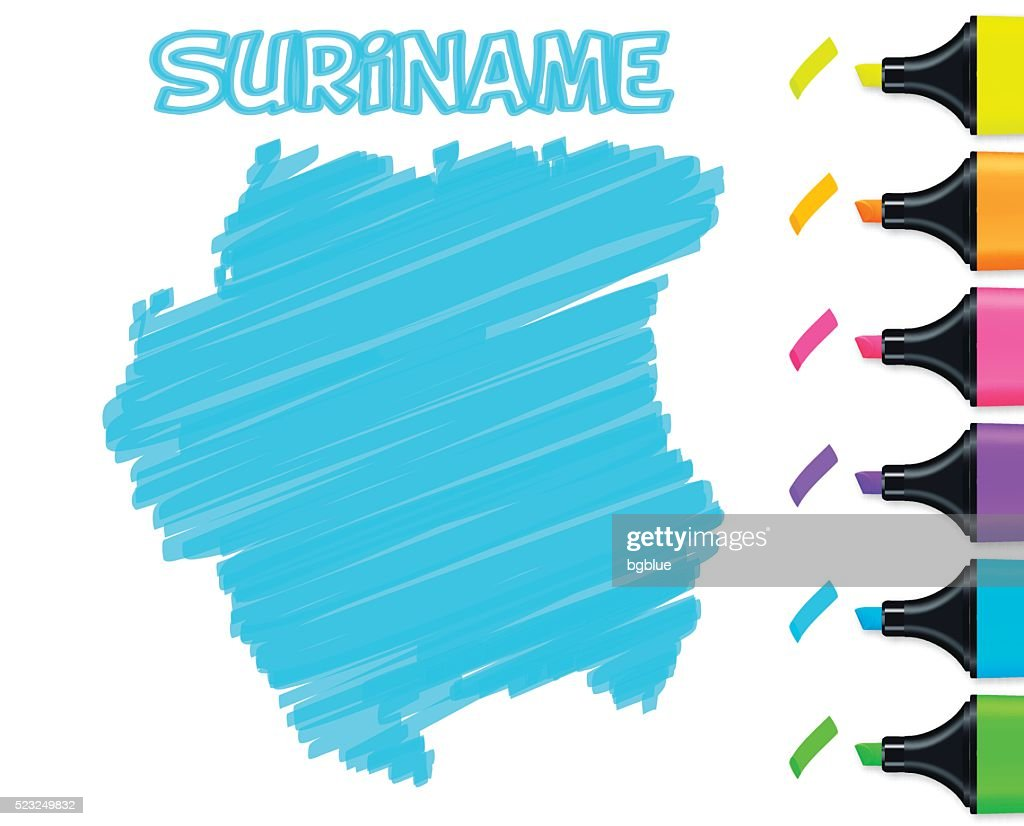 Detailed Vector Map Of Suriname Vector Art Getty Images