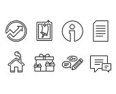 Surprise boxes, Document and Audit icons. Keywords, Window cleaning and Comment signs.