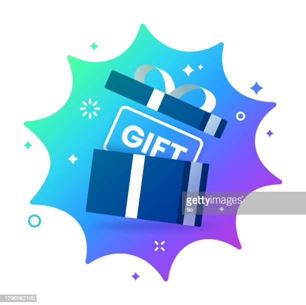 サプライズギフト - 誕生日の贈り物点のイラスト素材/クリップアート素材/マンガ素材/アイコン素材