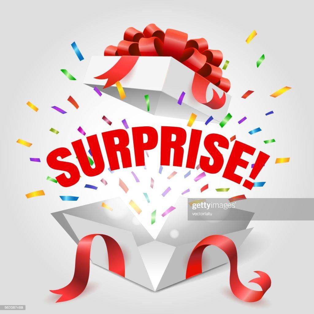 Surprise open gift box