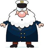 Surprised Cartoon Sea Captain