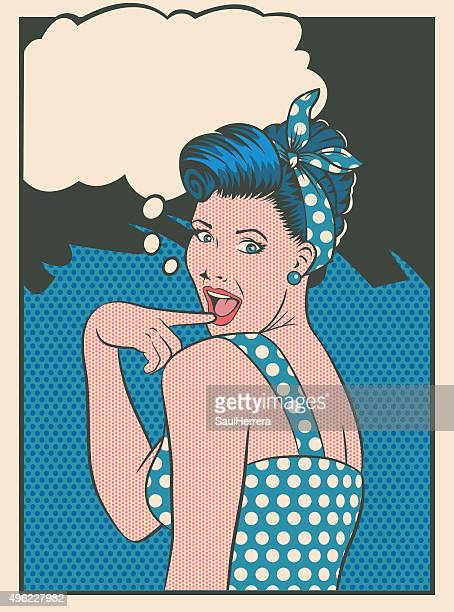 surprised pinup girl