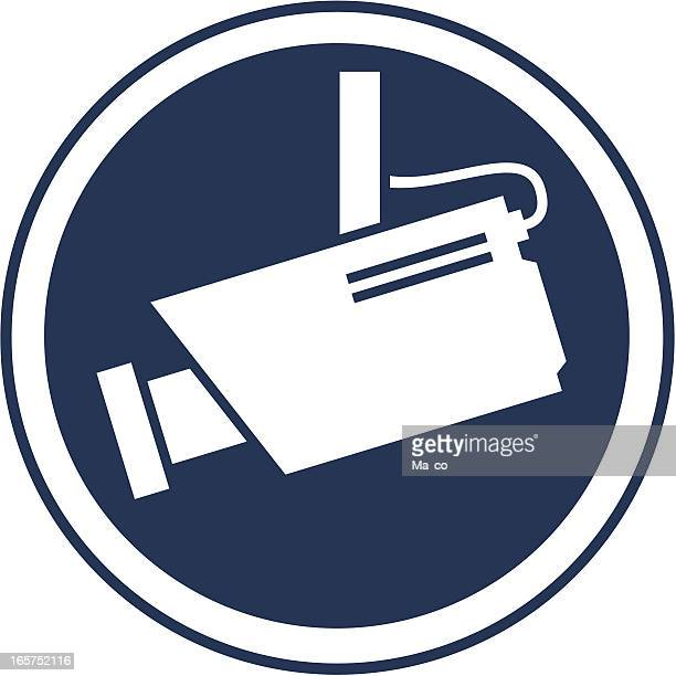 surveillance camera symbol - security camera stock illustrations