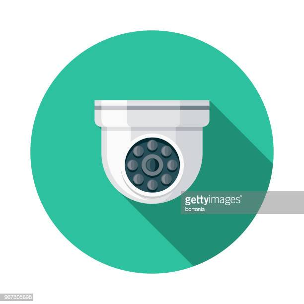 surveillance flat design crime & punishment icon - security camera stock illustrations