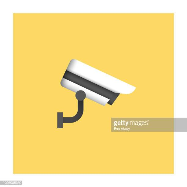surveillance icon - security camera stock illustrations