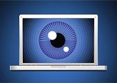 Surveillance through computer screen.