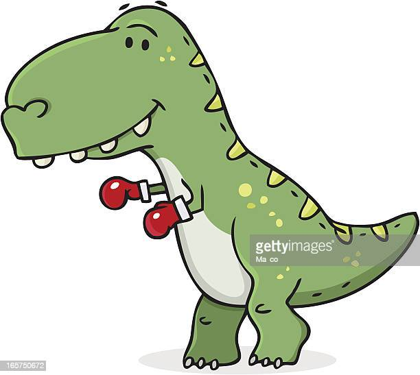 survival of the fittest / dinosaur cartoon - slapping stock illustrations, clip art, cartoons, & icons
