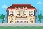 Sushi bar restaurant.