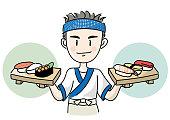 Sushi craftsman image