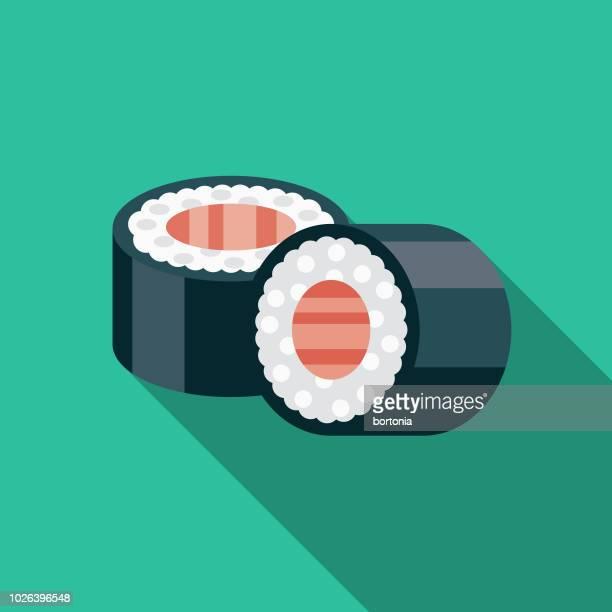 寿司フラット デザイン日本アイコン - 寿司点のイラスト素材/クリップアート素材/マンガ素材/アイコン素材