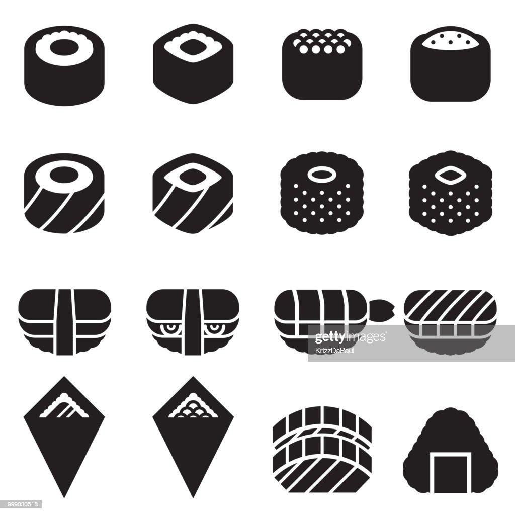 Sushi Icons [Black Edition]