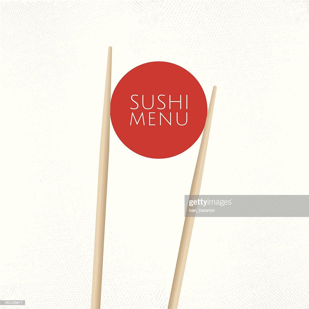 Sushi menu cover template