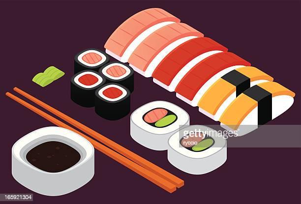 寿司のミックス - 寿司点のイラスト素材/クリップアート素材/マンガ素材/アイコン素材