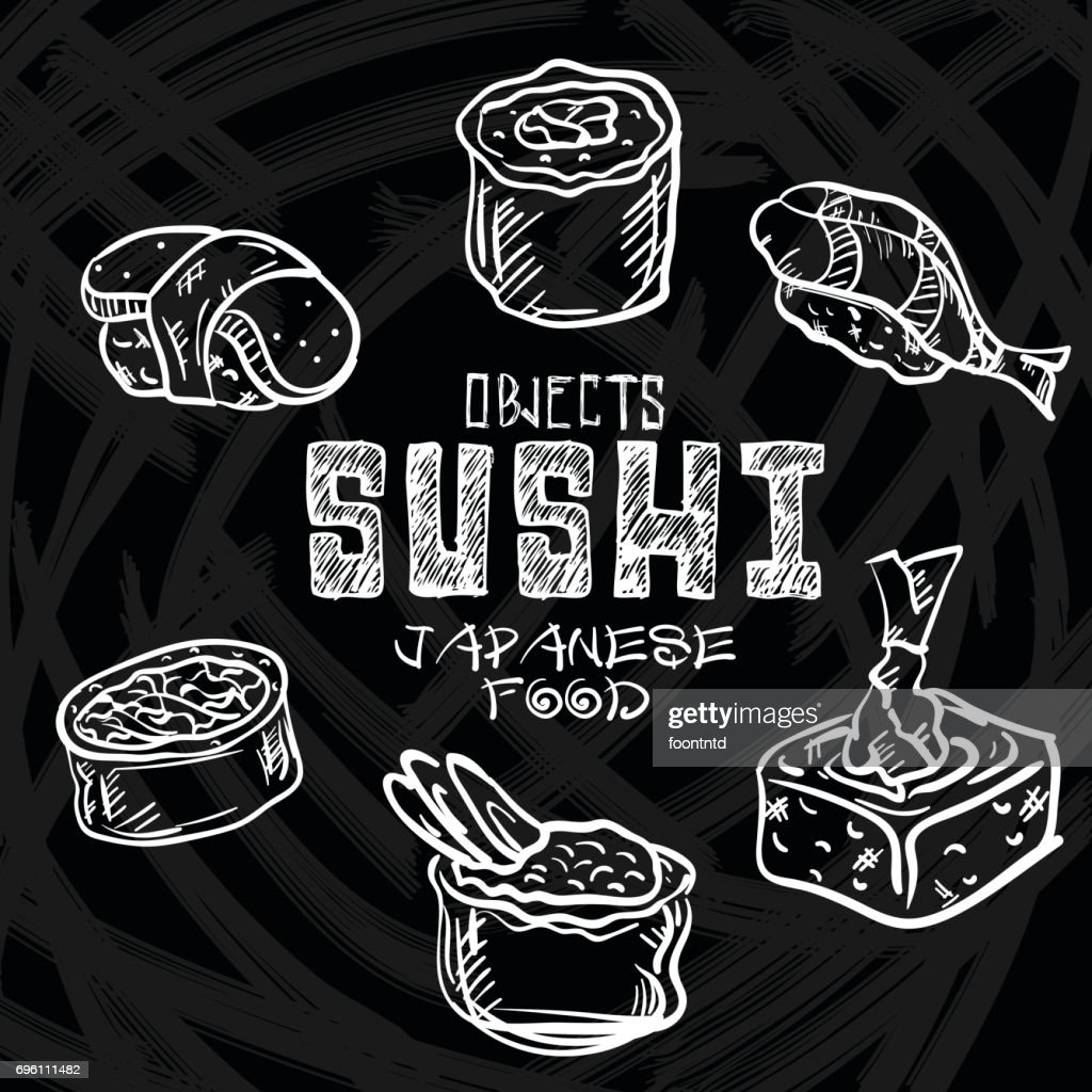 sushi objects japanese food