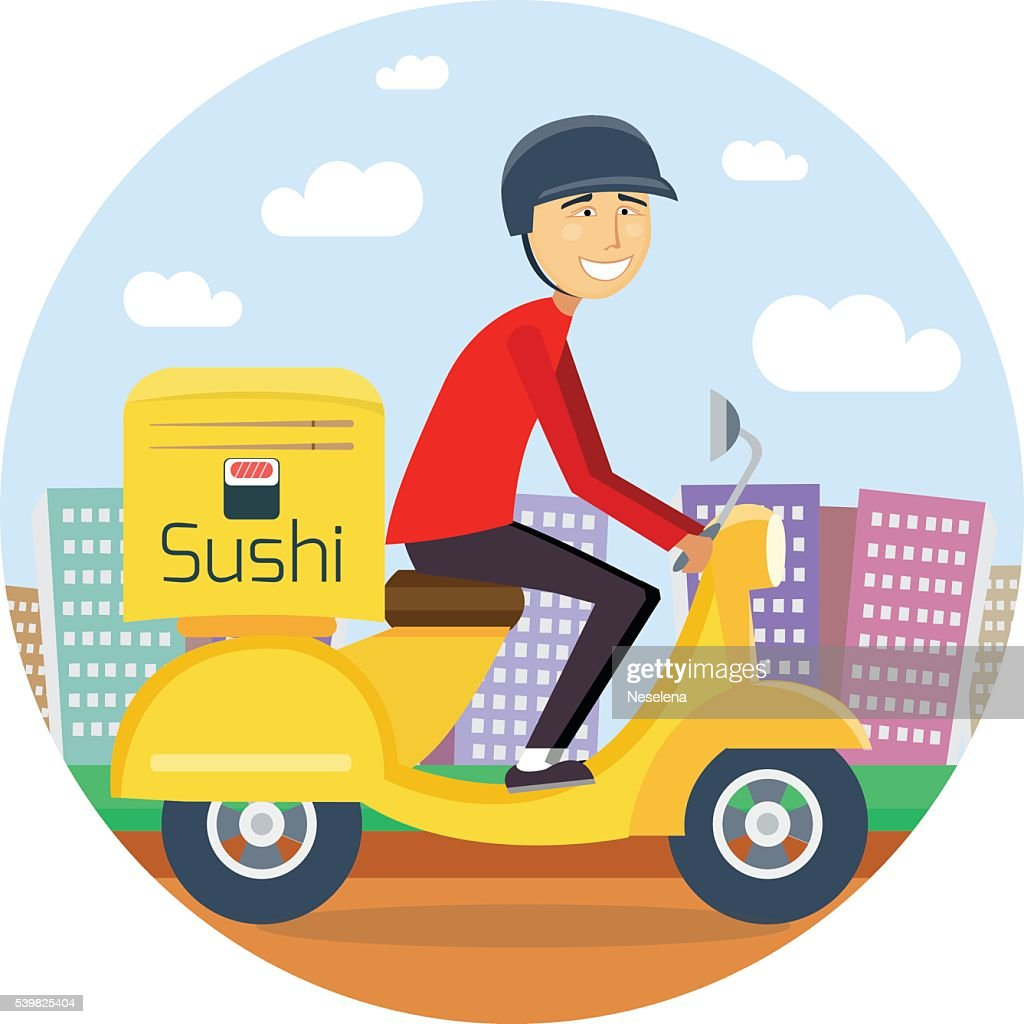 Sushi or food delivery concept