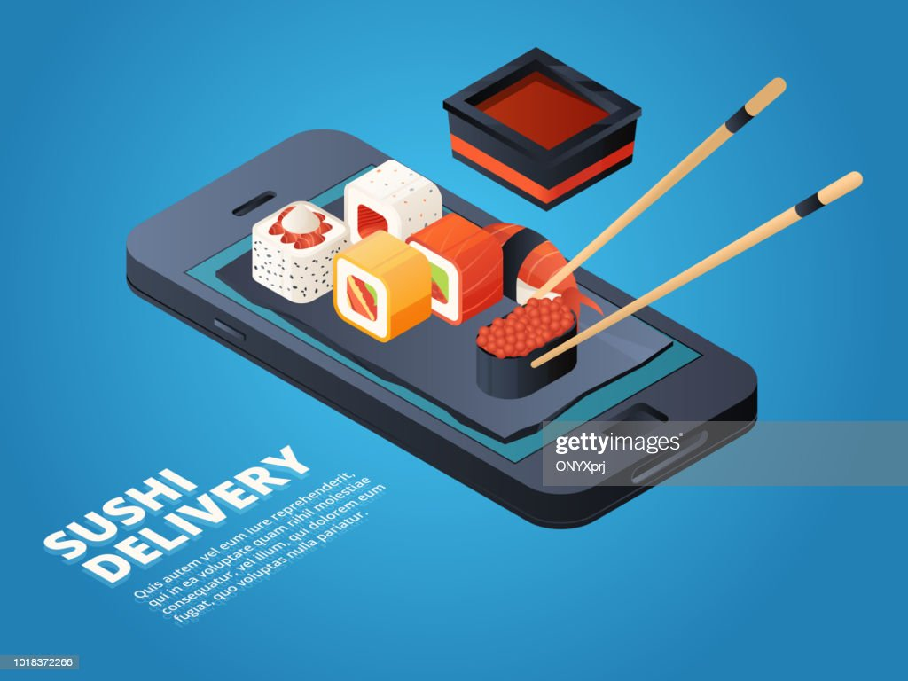 Sushi order. Online or telephone order various asian food