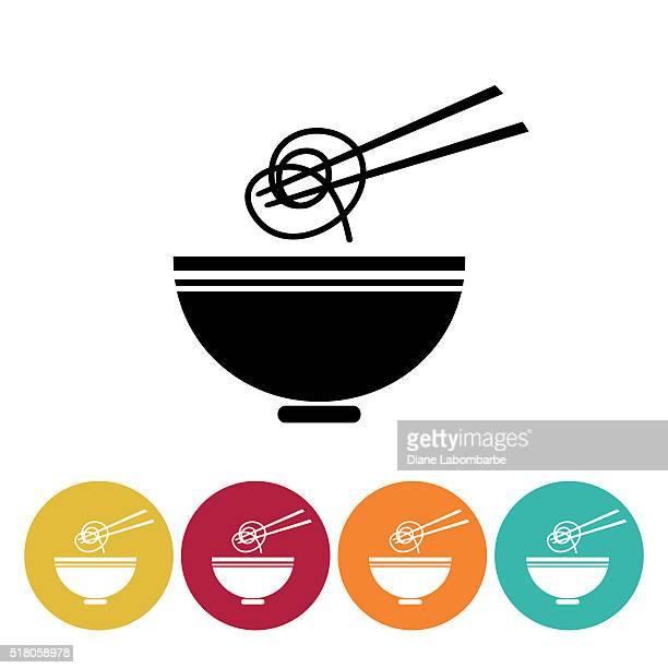 sushi restaurant icon set - ramen - chopsticks stock illustrations, clip art, cartoons, & icons