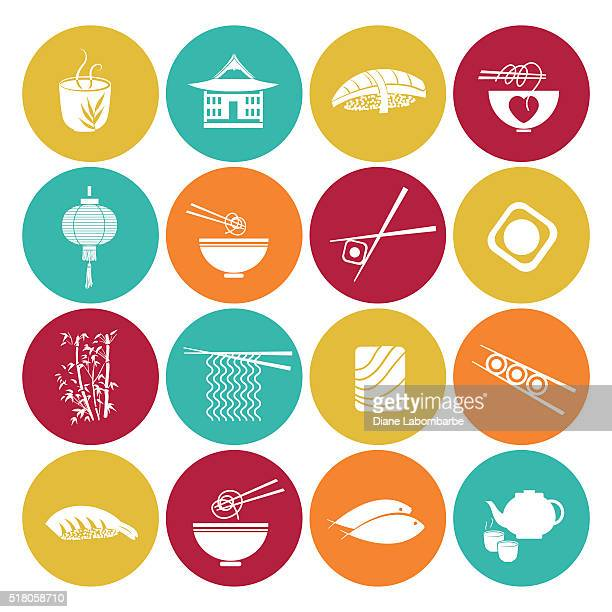 Sushi Restaurant Icon Set