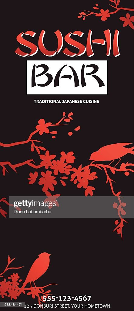 Sushi restaurant menu template or background with bamboo vector sushi restaurant menu template or background with bamboo vector art pronofoot35fo Gallery