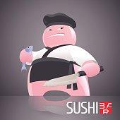 Sushi vector template icon