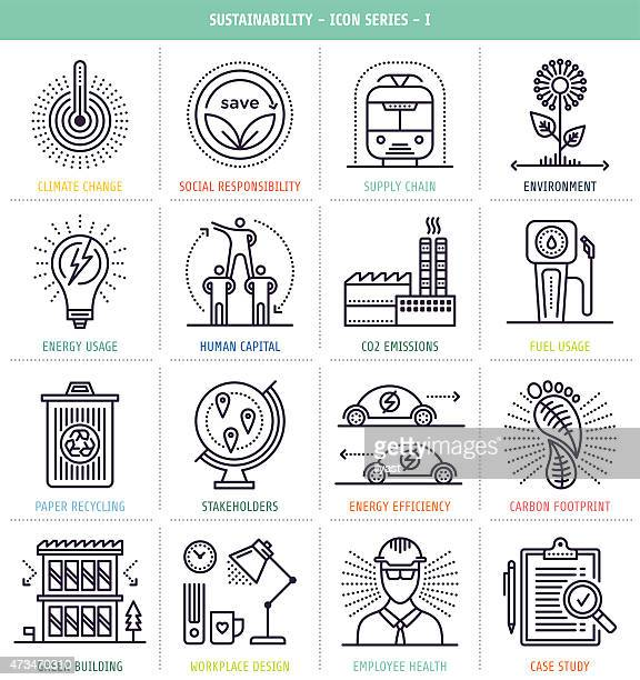 Sustainability Icons Set