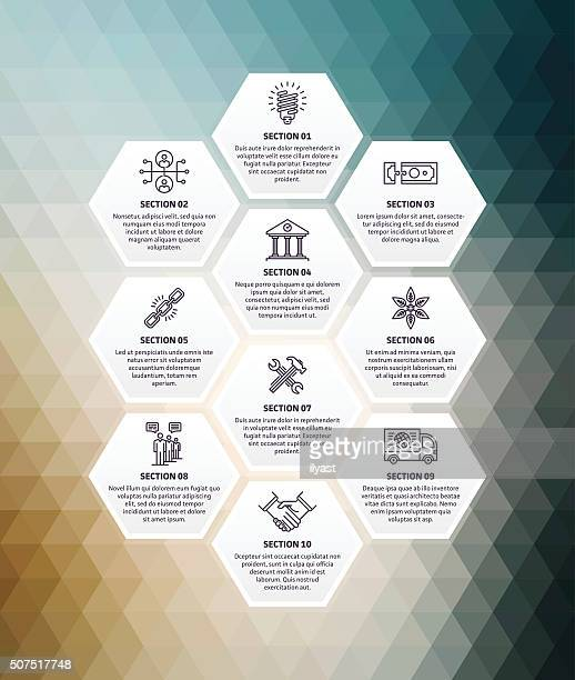 sustainability infographic abstract background - politics abstract stock illustrations