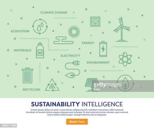 持続性の知性の概念 - 気候点のイラスト素材/クリップアート素材/マンガ素材/アイコン素材