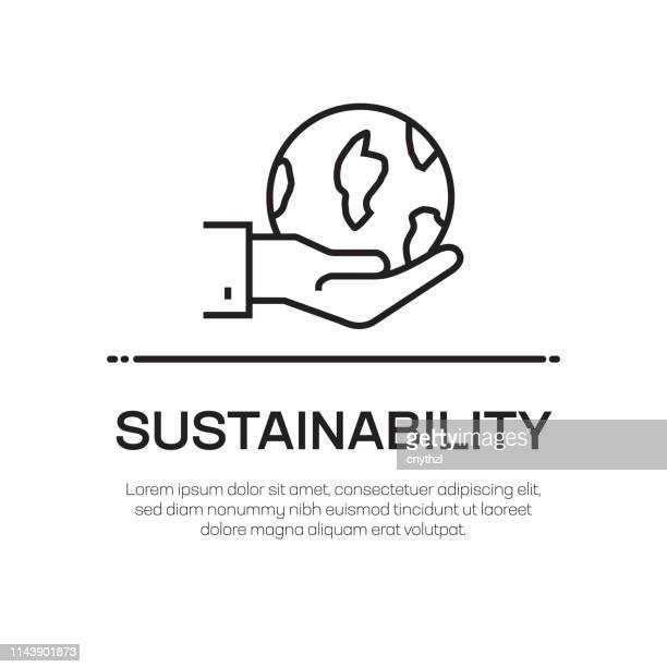 nachhaltigkeit vector line icon-simple thin line icon, premium quality design element - umweltthemen stock-grafiken, -clipart, -cartoons und -symbole