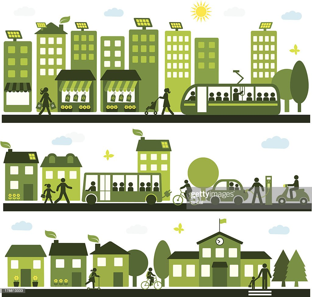 Sustainable City : stock illustration