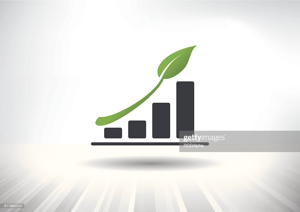 Sustainable Green Growth Icon
