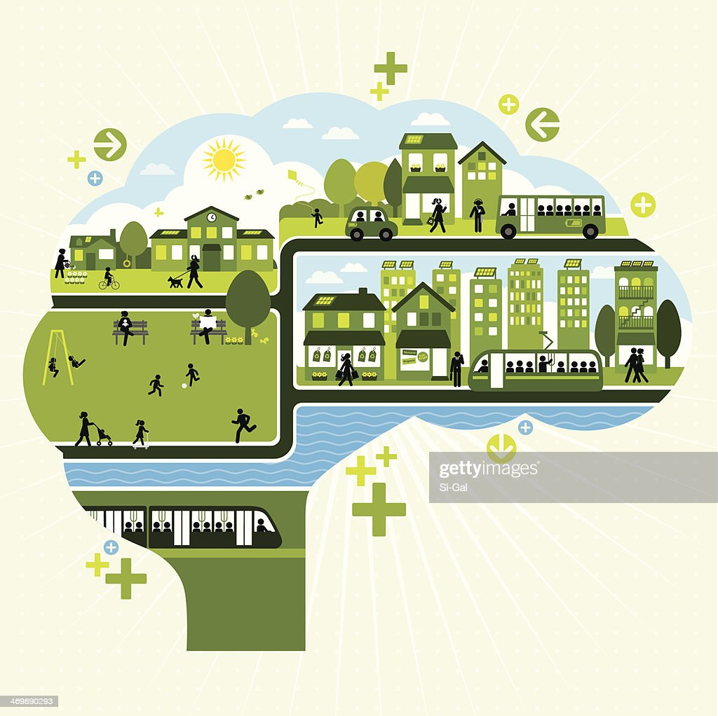 Sustainable Lifestyle Thinking : stock illustration
