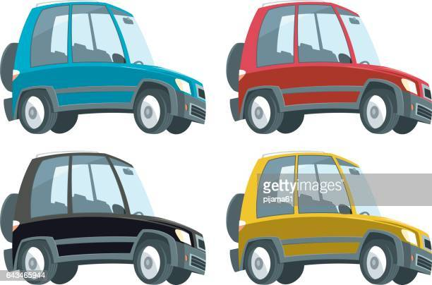 suv car - hatchback stock illustrations, clip art, cartoons, & icons