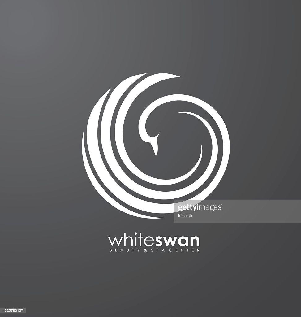 Swan abstract vector logo design