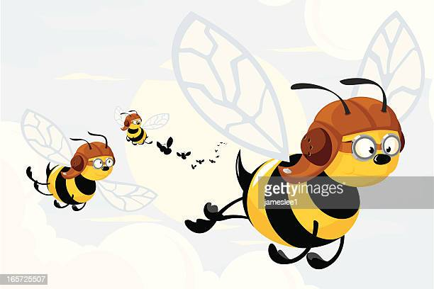 swarm of killer bees - bumblebee stock illustrations, clip art, cartoons, & icons