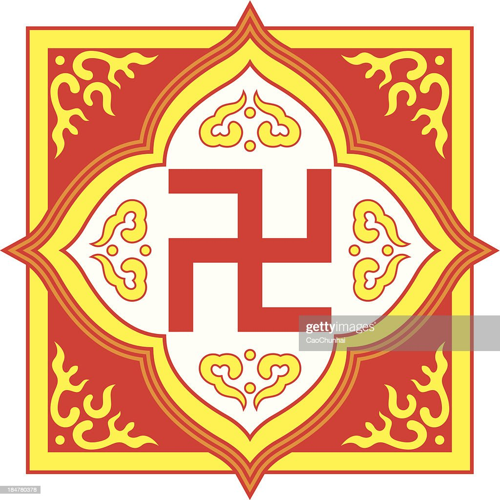 Swastika Symbolbuddhist Tradition Pattern Vector Art Getty Images