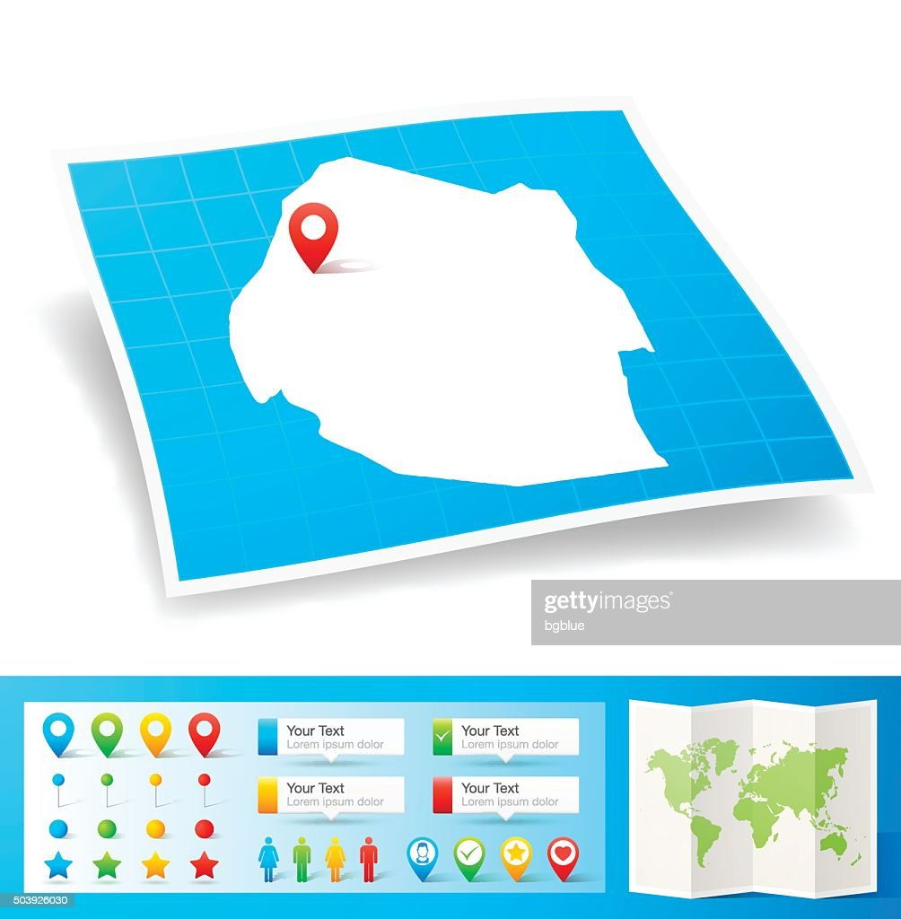 Swaziland Map With Location Pins Isolated On White Background Vector